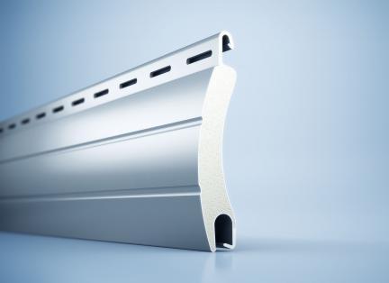 Ausgeschäumte Rollladenprofile aus Aluminium